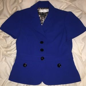 Tahari Arthur S. Levine Blue Short sleeve Blazer